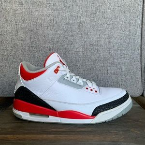 "Air Jordan 3 Retro ""Fire Red"" size 12"